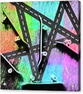 Retro Skaters Parade Acrylic Print