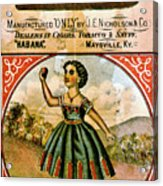Retro Tobacco Label 1868 C Acrylic Print