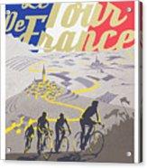 Retro Tour de France Acrylic Print