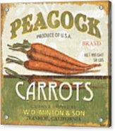 Retro Veggie Label 2 Acrylic Print by Debbie DeWitt