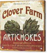 Retro Veggie Labels 1 Acrylic Print