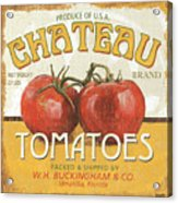 Retro Veggie Labels 4 Acrylic Print