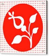 Retro White Flower Acrylic Print