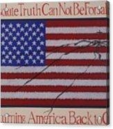 Returning America Back To God Acrylic Print