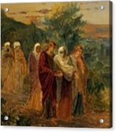 Returning From The Burial Of Christ Acrylic Print