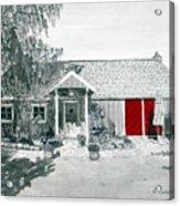 Retzlaff Winery With Red Door No. 2 Acrylic Print