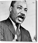 Rev. Martin Luther King, Speaking Acrylic Print by Everett