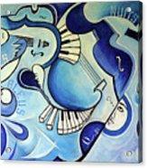 Reves Bleus Acrylic Print