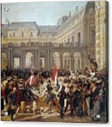Revolution Of 1830 Departure Of King Louis-philippe For The Paris Townhall Horace Vernet Acrylic Print
