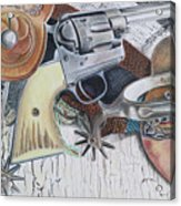 Revolver With Spurs Acrylic Print