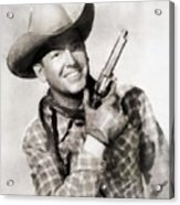 Rex Allen, Vintage Actor Acrylic Print
