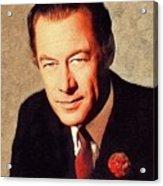 Rex Harrison, Vintage Actor Acrylic Print