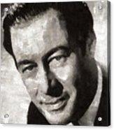 Rex Harrison, Vintage Hollywood Legend Acrylic Print