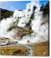 Reykjadalur Geothermal Area In Iceland Acrylic Print