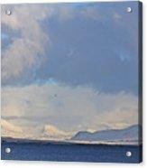 Reykjavik Bay, Blue Sea, Clouds , Shadows, Mountains,  Iceland 2 2102018 2262 Acrylic Print
