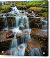 Reynolds Mountain Waterfall Acrylic Print