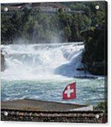 Rhine Falls In Switzerland Acrylic Print