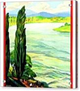 Rhine River, Alsace, France Acrylic Print
