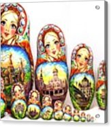 Rhinestones Of Moscow Acrylic Print