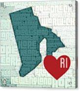 Rhode Island Cities Acrylic Print
