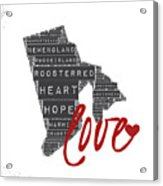 Rhode Island Love Acrylic Print