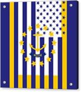 Rhode Island State Flag Graphic Usa Styling Acrylic Print