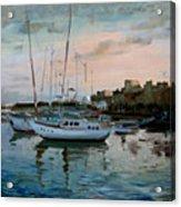 Rhodes Mandraki Harbour Acrylic Print