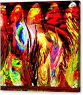 Rhythm Of The Dancing Fires Acrylic Print