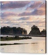 Rialto Beach Sunset On The Pacific Coast In Washington Acrylic Print