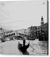 Rialto Bridge In Venice  Acrylic Print