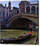Rialto Bridge In Venice Italy Acrylic Print