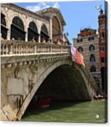 Rialto Bridge In Venice Acrylic Print
