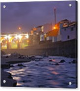 Ribeira Grande At Night Acrylic Print
