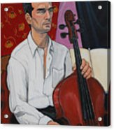 Ricardo With Cello Acrylic Print