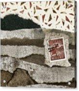 Rice Paddies Collage Acrylic Print