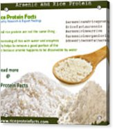 Rice Protein And Arsenic Acrylic Print