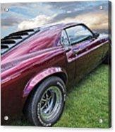 Rich Cherry - '69 Mustang Acrylic Print