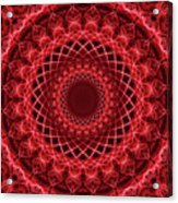 Rich Red Mandala Acrylic Print