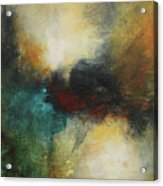 Rich Tones Abstract Painting Acrylic Print