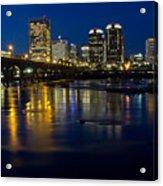 Richmond Night Skyline Acrylic Print