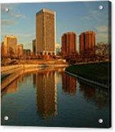 Richmond Skyline And Canal Acrylic Print