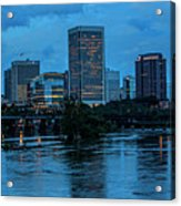Richmond Skyline At Nightfall 11908t Acrylic Print