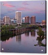Richmond Skyline Sunset Pink Acrylic Print