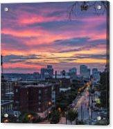 Richmond Sunset Libby Hill Acrylic Print