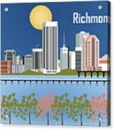 Richmond Virginia Horizontal Skyline Acrylic Print