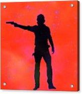 Rick Grimes Acrylic Print