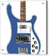 Rickenbacker Bass 4001 Body  Acrylic Print