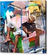 Rickshaw Acrylic Print