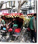 Rickshaws Acrylic Print