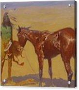 Ridden Down Detail 1906 Acrylic Print